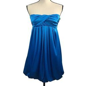 Charlotte Russe Royal Blue Satin Strapless Dress